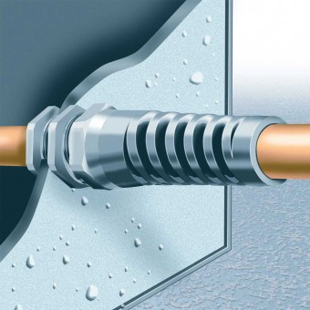 Flex-Protecting Pg Thread Cable Glands - with Locknuts