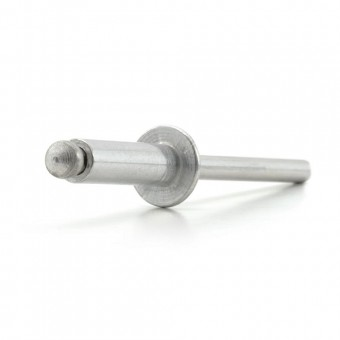 Aluminium Pop Rivets - Standard Open Type: Domed Head