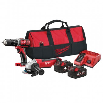 Milwaukee M18 BPP20 Combi Grinder Twin Pack 18V 2 x 4.0Ah Li-ion
