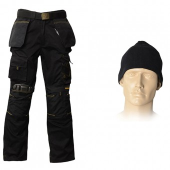 Roughneck Clothing 34in Trouser Pack, Belt, Beanie & Kneepads