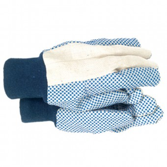 Town & Country Mens Dotted Canvas Gloves