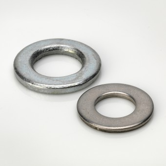 DIN 125 Form A Flat Washers - BZP & Stainless Steel