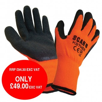Scan Thermal Latex Coated Glove  Size 9 (L) (Pack of 25)