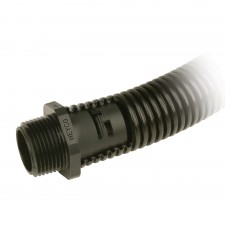 Heyco-Flex III Liquid Tight Fittings - Straight-Thru NPT Hubs