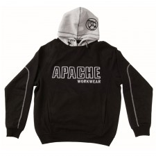 Apache Hooded Sweatshirt Black / Grey