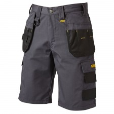 DEWALT Cheverley Lightweight Grey Polycotton Shorts Waist 36in