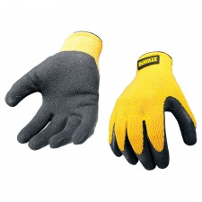 DEWALT Yellow Knit Back Latex Gloves - Large