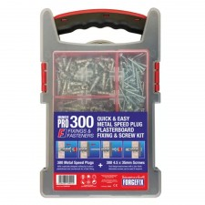 ForgeFix Speed Plug Zinc Plasterboard Fixing Kit, 300 Piece