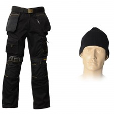 Roughneck Clothing 38in Trouser Pack, Belt, Beanie & Kneepads