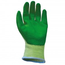 Scan Knit Shell Latex Palm Gloves Green Size 10 (12 Pack)