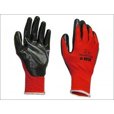 Scan Palm Dipped Black Nitrile Glove