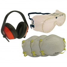 Scan Safety Kit - Goggles, Earmuff & Masks