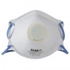 Scan Moulded Disposable Mask Valved FFP2 Protection (Box of 10)