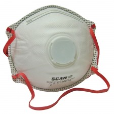 Scan Moulded Disposable Valved Masks FFP3