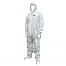 Scan Chemical Splash Resistant Disposable Coverall White Type 5/6 L (39-42in)