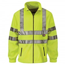 Scan Hi-Vis Yellow Full Zip Fleece