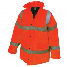 Scan Hi-Vis Motorway Jacket Orange