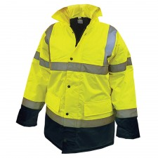 Scan Hi-Vis Motorway Jacket Yellow Black