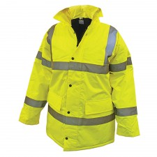 Scan Hi-Vis Motorway Jacket Yellow