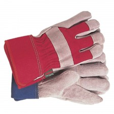 Town & Country General Purpose Navy/Red Gloves Ladies - Medium