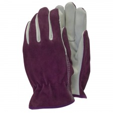 Town & Country Premium Leather & Suede Ladies Gloves (Medium)