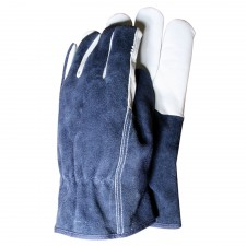 Town & Country Premium Leather & Suede Mens Gloves (Large)