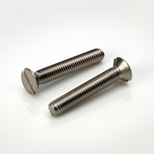 DIN 963 Slotted Countersunk Head Metric Machine Screws - BZP & Stainless Steel