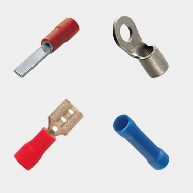 6.3mm Red Female Insulated Push-On Blade Terminal Copper Tube Crimp Terminal