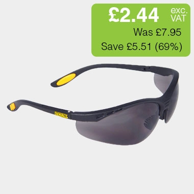 DEWALT Reinforcer Safety Glasses - Smoke
