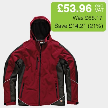 Dickies Two Tone Soft Shell Red / Black Jacket