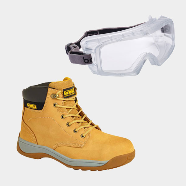 Bolle Safety Goggles DEWALT Safety Boots