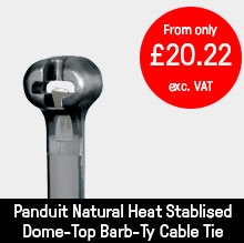 Panduit Natural Heat Stablised Dome-Top Barb-Ty Cable Tie