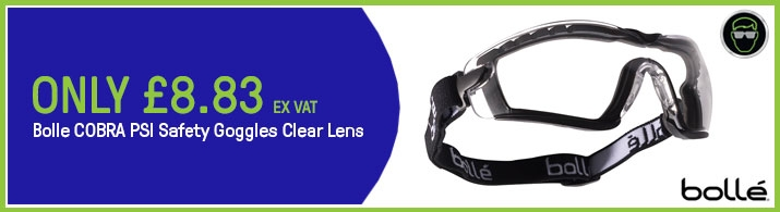 Bolle Tracker Safety Goggles Vented Clear