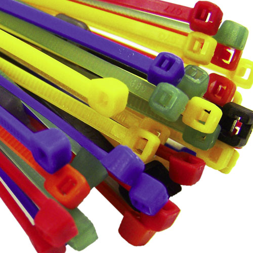 Red Yellow Green Blue Black Cable Ties