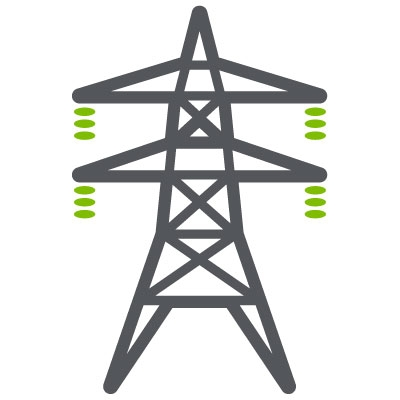 Electrical Power Line Tower Optimas Solutions Icon
