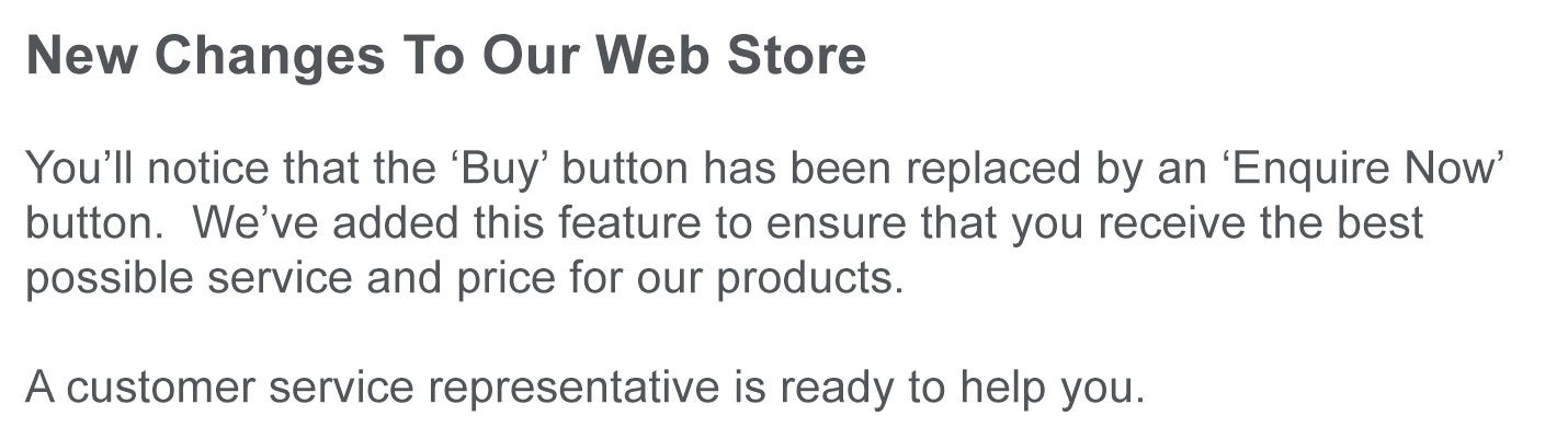 New Changes To The Web Store