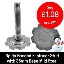 Spida Bonded Fastener Stud with 35mm Base Mild Steel